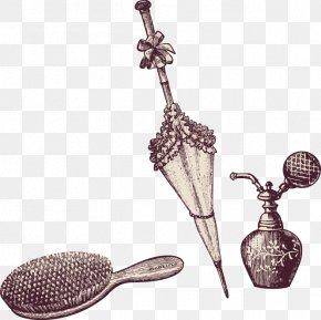 Lace Umbrella Comb Perfume - Comb Lace Umbrella Perfume PNG