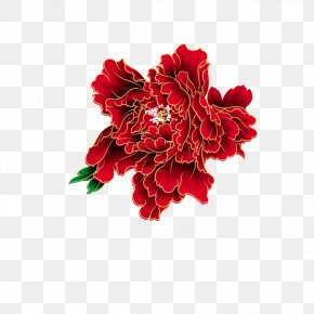 Chinese New Year Peony - Chinese New Year Lunar New Year Moutan Peony PNG