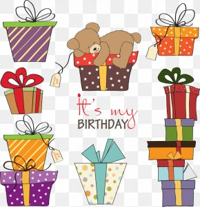Vector Gift Boxes And Cubs - Gift Birthday Stock Photography Clip Art PNG