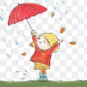 Happy Child Art - Umbrella Cartoon Child Art Happy PNG