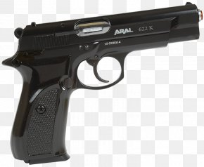 Space Gun - Trigger Pistol Weapon Blank 9mm P.A.K. PNG