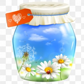 Enjoy Beautiful Dandelion Flower Pot Decoration Vector Material - Euclidean Vector PNG