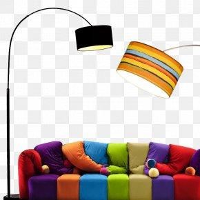 Living Room Floor Lamp - Lighting Living Room Couch Bedroom PNG