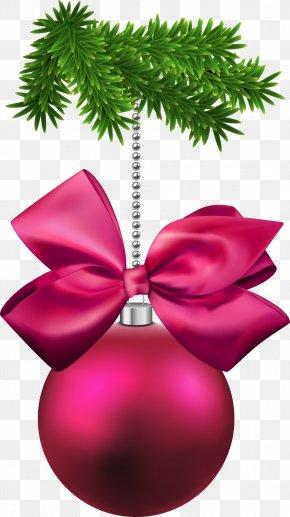Christmas Bow And Christmas Ball - Christmas Ornament Christmas Decoration Christmas Tree PNG
