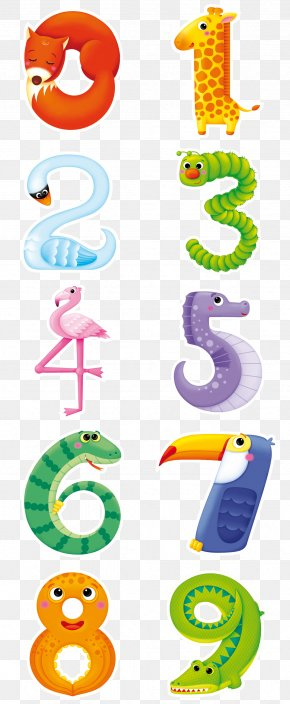 Animals Number Combinations - Clip Art PNG