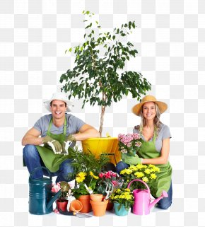 Fashion Male And Female Couple Gardening - Gardening Garden Tool Watering Can Stock Photography PNG