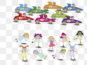 Car And Fairy - Drawing Stock Illustration Clip Art PNG