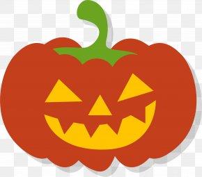 Cartoon Pumpkin With Teeth PNG