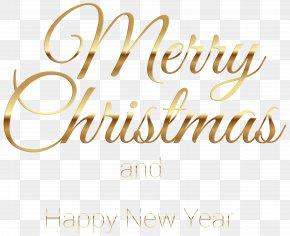 Merry Christmas Gold Transparent Clip Art - Santa Claus Christmas Eve Christmas Ornament Clip Art PNG