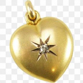 Gold Heart - Charms & Pendants Locket Gold Jewellery Gemstone PNG