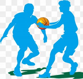 Basketball Silhouette Figures - Basketball Silhouette Clip Art PNG