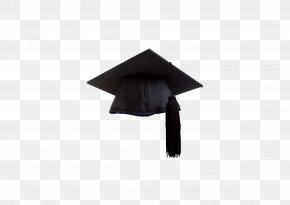 Black Bachelor Cap - Bachelors Degree Academic Degree Hat Graduation Ceremony PNG