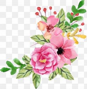 Valentine Element - Garden Roses Floral Design Flower Watercolor Painting PNG