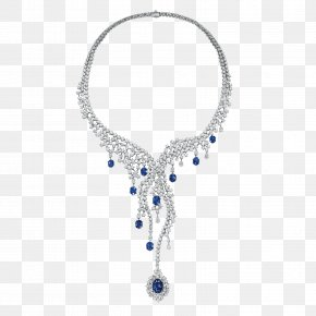 Sapphire - Earring Jewellery Necklace Diamond PNG