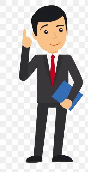 Vector White Collar Man - Businessperson Diagram Illustration PNG