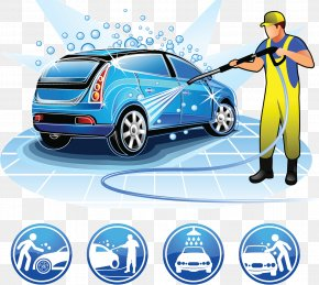 Car Wash Beauty Care Services - Car Wash Cartoon Illustration PNG