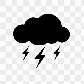Drawing Thunderstorm Icon - Thunderstorm Lightning Weather PNG