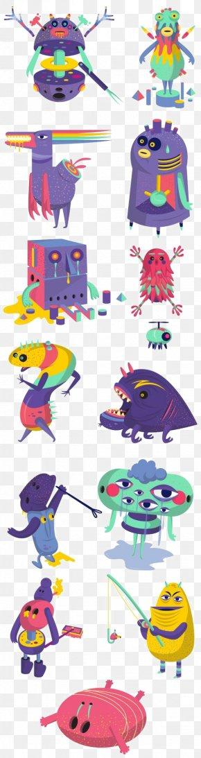 Purple Monster - Monster Drawing Illustrator Illustration PNG