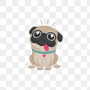 Cartoon Bullfighting Tongue - Pug Bulldog Puppy Drawing PNG