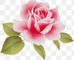 Artificial Flower Plant Stem - Watercolor Pink Flowers PNG