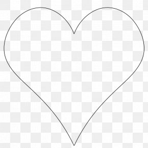 Simple Heart Outline - White Heart Black Angle Pattern PNG