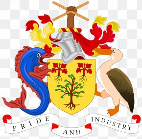 Usa Gerb - Coat Of Arms Of Barbados National Symbols Of Barbados Gallery Of Coats Of Arms Of Sovereign States PNG