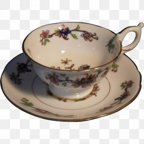 Hand-painted Flower Pot - Coffee Cup Saucer Porcelain Plate PNG