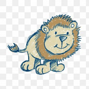 Cartoon Lion - Lion Tiger Clip Art PNG