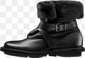 Boot - Motorcycle Boot Snow Boot Shoe Leather PNG