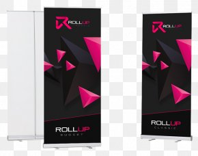 Roll Up Banner - Banner Roll-up Web Banner Text Magenta PNG