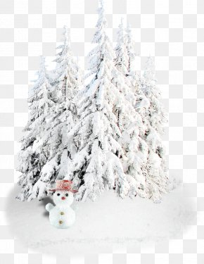 Snow Background - Christmas Decoration Holiday Snowman New Year Tree PNG