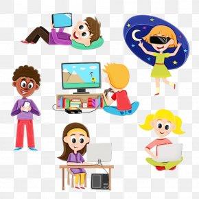 Play Child - Cartoon Sharing Child Play PNG