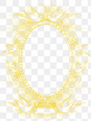 Orange Pattern Frame - Picture Frame Yellow Feather Pattern PNG