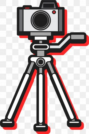Digital Camera Taking Photos - Canon EOS 5D Single-lens Reflex Camera Tripod PNG