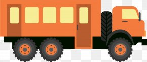 Orange Cartoon Car - Car Rail Transport Mode Of Transport Vehicle PNG