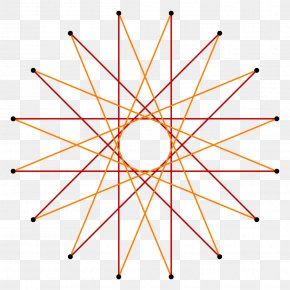 Creative Polygon - Hexadecagon Star Polygon Regular Polygon Shape PNG