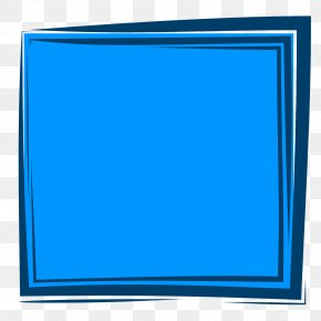 Blue Picture Frame - Blue Picture Frames Color PNG