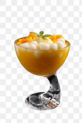 Mango Ice Cream Dessert Dumplings - Ice Cream Cone Parfait Syllabub Frozen Dessert PNG