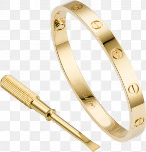 Bracelet - Love Bracelet Cartier Gold Jewellery PNG
