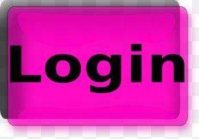 Login Button Pic - Button Login Clip Art PNG