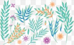 Painted Plants - Plant Leaf Painting Petal PNG
