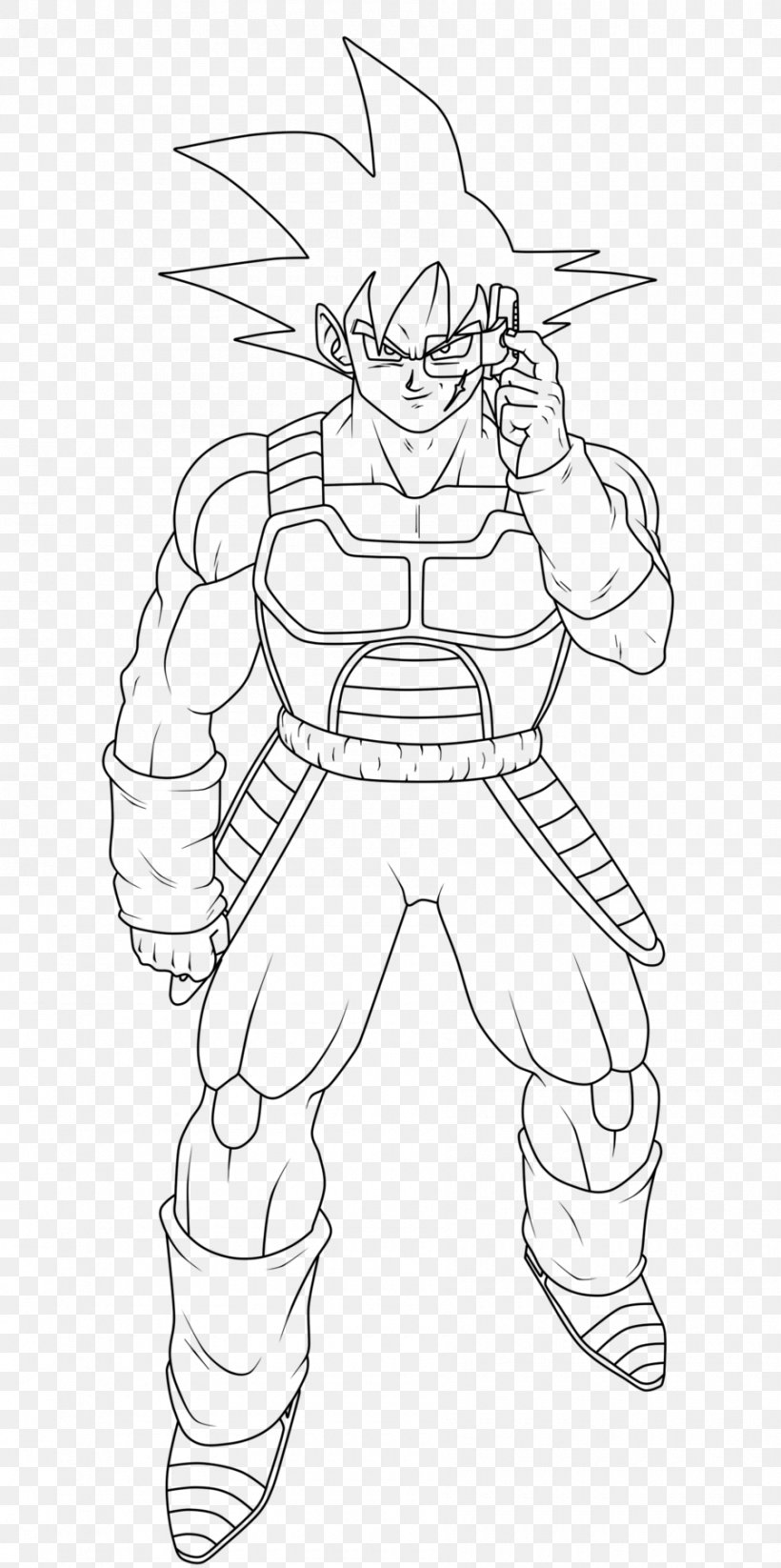 - Bardock Goku Coloring Book Drawing Dragon Ball, PNG, 900x1807px