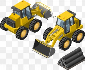 Vector Material Traffic Engineering Machinery Bulldozers - Machine Architectural Engineering PNG
