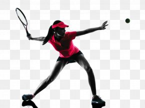 Tennis Player Backlit Photo - Tennis Player Stock Photography Silhouette Woman PNG