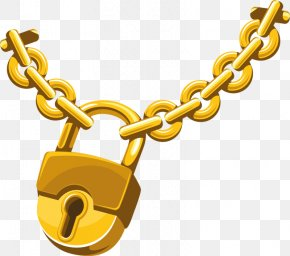 Gold Chains - Chain Lock Clip Art PNG