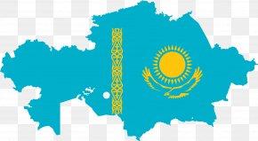 Map - Flag Of Kazakhstan Kazakh Soviet Socialist Republic Blank Map PNG