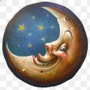 Moon - Man In The Moon Art Moonlight PNG