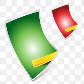 Red Green Shape With Ribbon - Blue Ribbon PNG