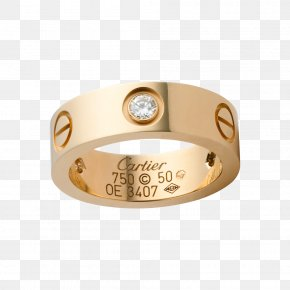 Hermes - Cartier Ring Love Bracelet Diamond Colored Gold PNG