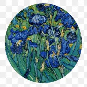 Famous Artwork Van Gogh - Irises Poppy Flowers The Starry Night Wheatfield With Crows Van Gogh Self-portrait PNG